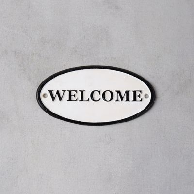 Cast Iron Oval Welcome Sign
