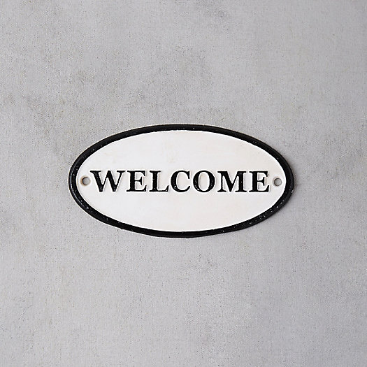 View larger image of Cast Iron Oval Welcome Sign