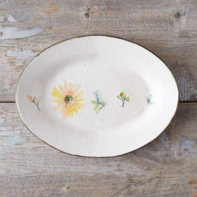 Garden Blooms Ceramic Platter