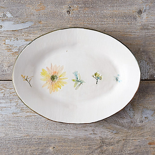 View larger image of Garden Blooms Ceramic Platter