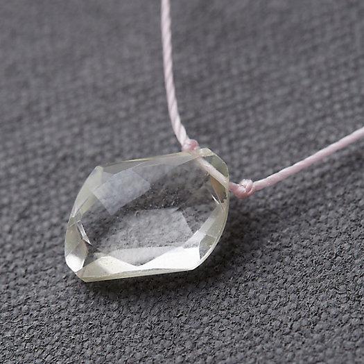 View larger image of Clear Sky Quartz Pendant Necklace