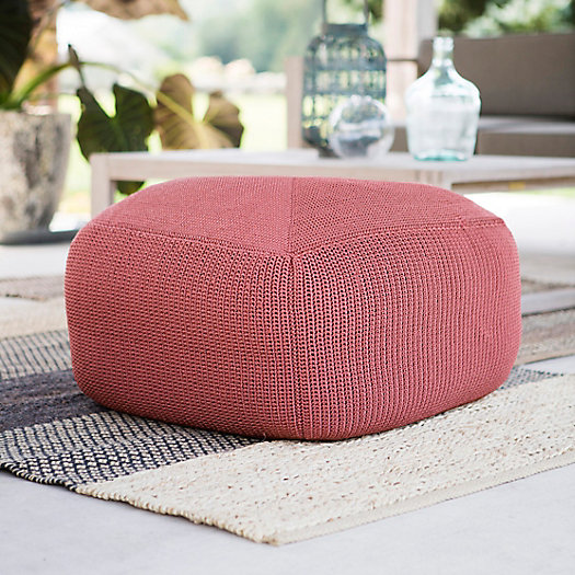 View larger image of Knitted Cube Pouf