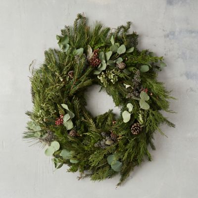 Fresh Evergreen & Eucalyptus Wreath