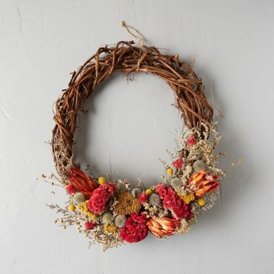 Fall Vine & Protea Wreath