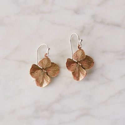 Hydrangea Petal Pendant Earrings