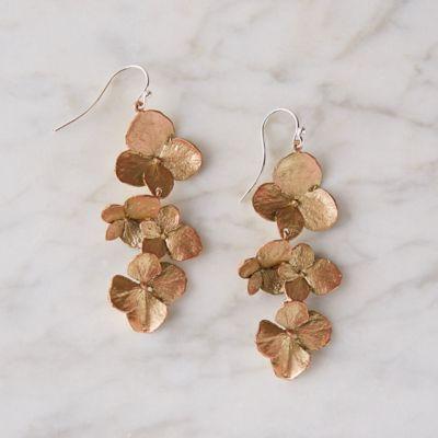 Hydrangea Petal Drop Earrings