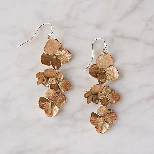 View larger image of Hydrangea Petal Drop Earrings