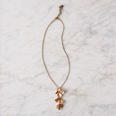 Hydrangea Petal Pendant Necklace