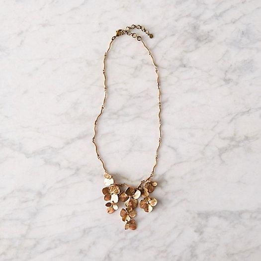 View larger image of Hydrangea Petal Bib Necklace