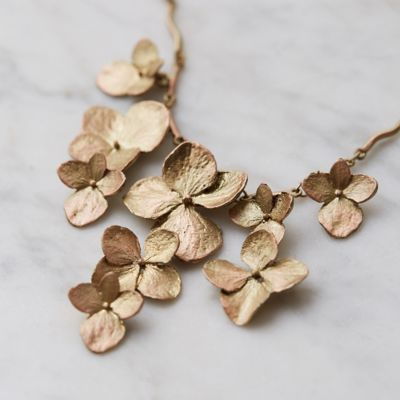 Hydrangea Petal Bib Necklace