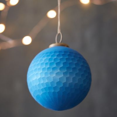 Hexagon Facets Globe Ornament
