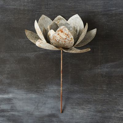 Metal Blossom Candle Holder