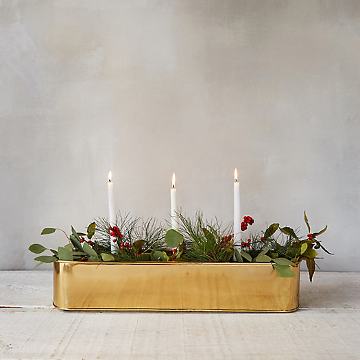 View larger image of Brass Candle Centerpiece Trough