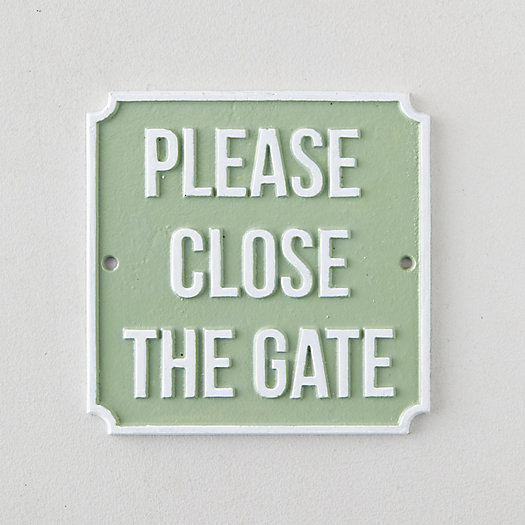 View larger image of Cast Iron Please Close the Gate Sign