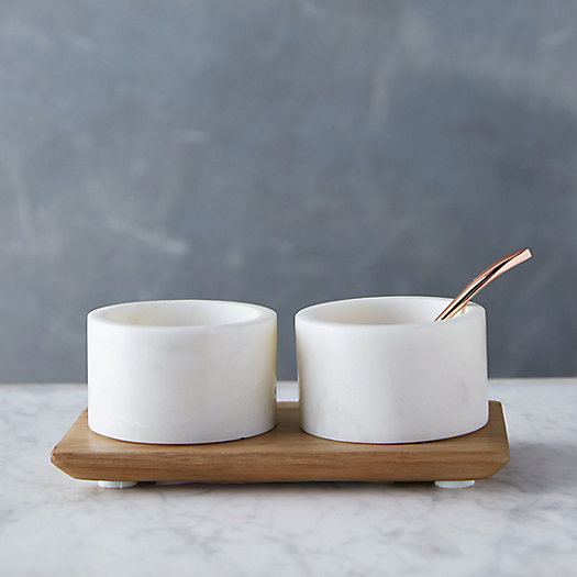 View larger image of Marble Condiment Set