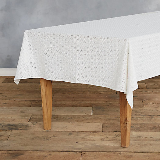 Cotton Eyelet Tablecloth by Terrain