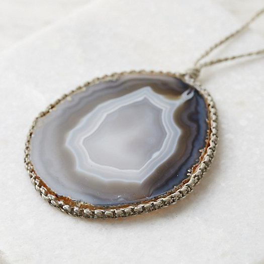 View larger image of Agate Geode Necklace