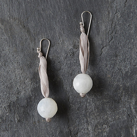 View larger image of White Moonstone Drop Earrings