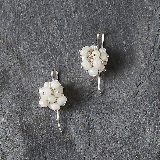 View larger image of White Agate Cluster Earrings