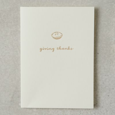 Thanksgiving Pie Card