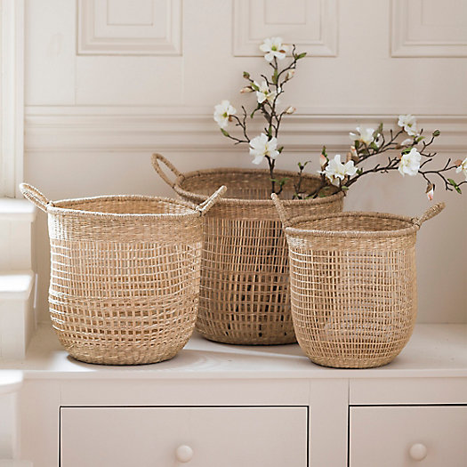 View larger image of Open Weave Seagrass Basket