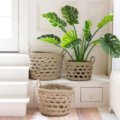 Woven Seagrass Rope Basket