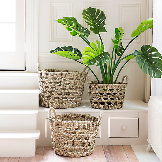 View larger image of Woven Seagrass Rope Basket