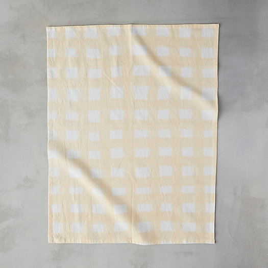 View larger image of Vintage Check Cotton Tea Towel