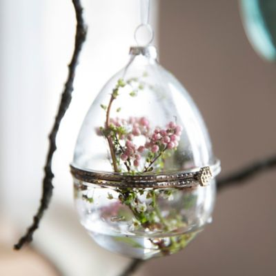 Glass Egg Ornament
