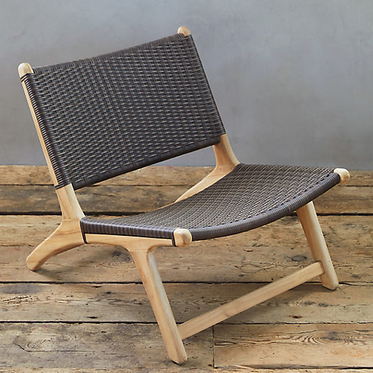 View larger image of All Weather Wicker + Teak Armless Chair