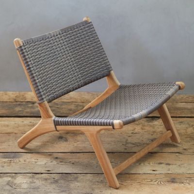 All Weather Wicker + Teak Armless Chair