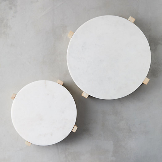 View larger image of Modern Marble Serving Stand