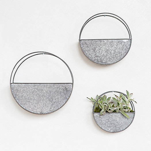 View larger image of Zinc Wall Planters
