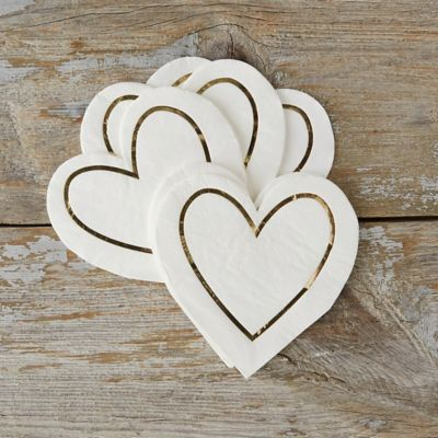 Golden Heart Napkins
