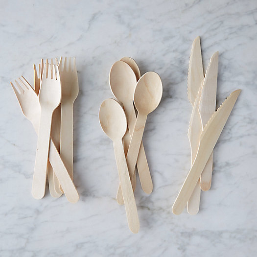 View larger image of Disposable Wooden Cutlery Set