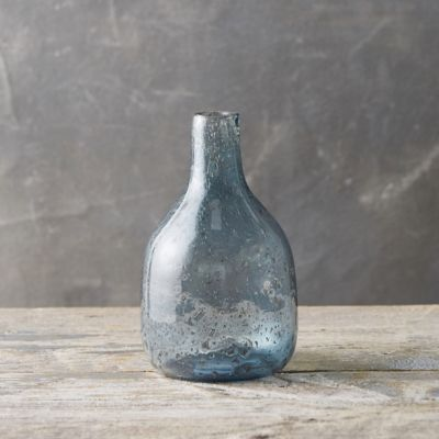 Speckled Glass Narrow Neck Vase