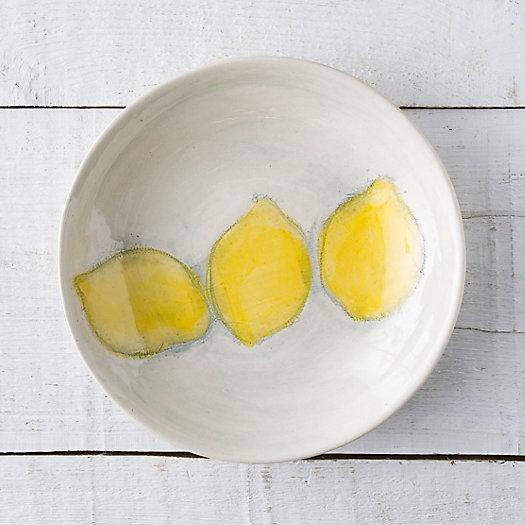 View larger image of Lemon Stoneware Serving Bowl
