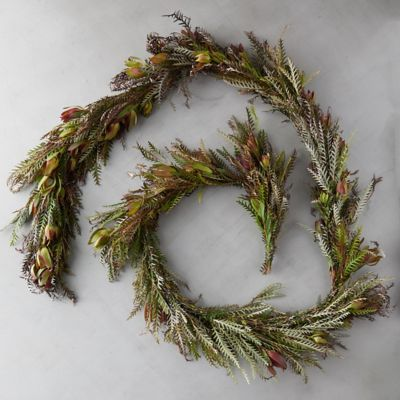Fresh Grevillea and Leucadendron Garland