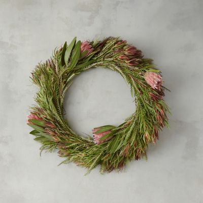 Fresh Grevillea and Leucadendron Wreath