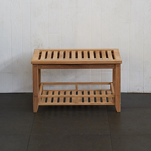 View larger image of Slatted Teak Storage Bench