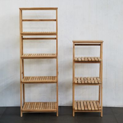 Slatted Teak Folding Shelf