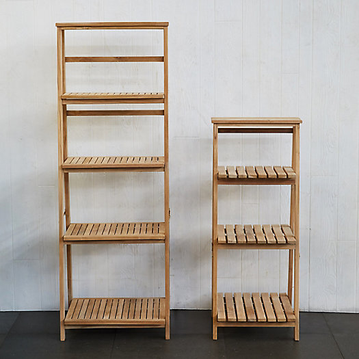 View larger image of Slatted Teak Folding Shelf