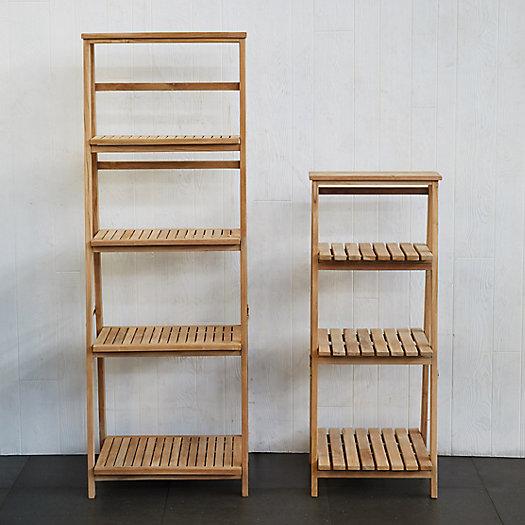 View larger image of Slatted Teak Folding Shelf