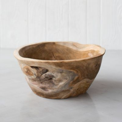 Large Teak Root Serving Bowl