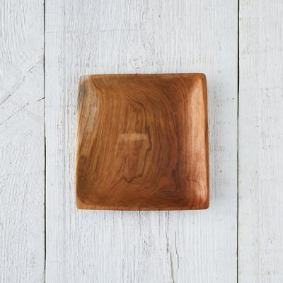 Square Teak Root Salad Plate