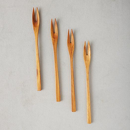 View larger image of Teak Cocktail Forks, Set of 4