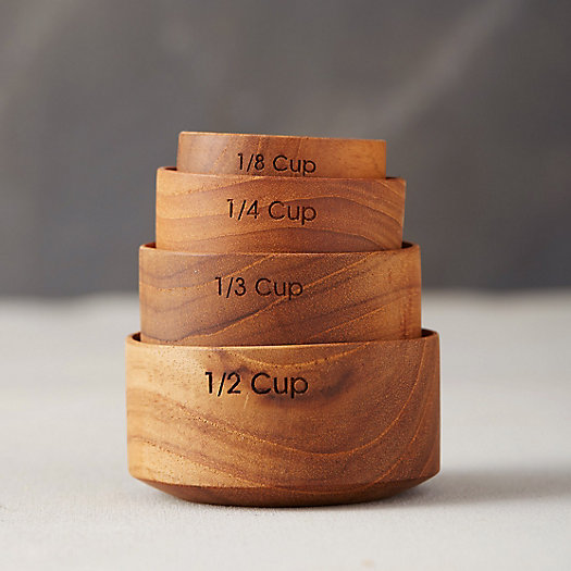 View larger image of Nested Teak Measuring Cups