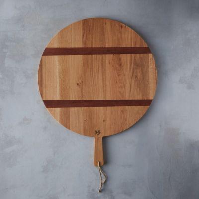 Reclaimed Oak Circle Serving Board