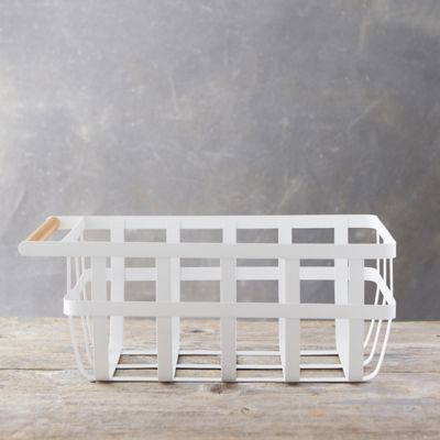 White Steel Storage Basket