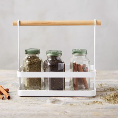White Steel Spice Rack